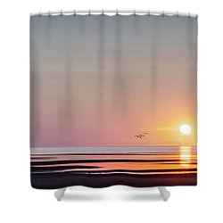 First Encounter Beach Cape Cod Shower Curtain by Bill Wakeley