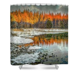 First Light At 3 Springs Shower Curtain