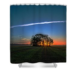 First Light At Center Grove Shower Curtain