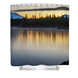 Shower Curtain featuring the photograph First Light At Lava Lake by Cat Connor