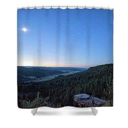 First Light At Salt Creek Shower Curtain