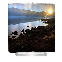 Shower Curtain featuring the photograph Daybreak by Cat Connor