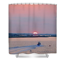 First Light Shower Curtain by  Newwwman
