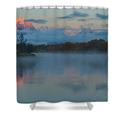 First Light Of Dawn Shower Curtain by Yeates Photography