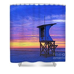 First Light On The Beach Shower Curtain