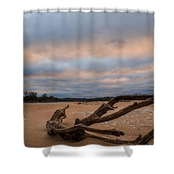 First Light On The Kaw Shower Curtain