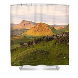 First Light On The Quairing  Shower Curtain