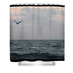 Shower Curtain featuring the photograph First Light by Robert Banach