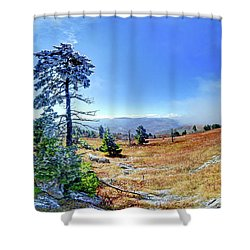 Shower Curtain featuring the photograph First Light Snow by George Randy Bass