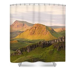 First Light Trotternish Panorama Shower Curtain