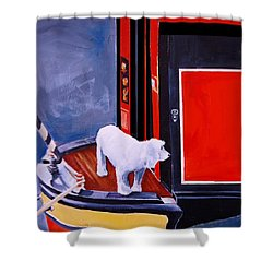 First Mate Shower Curtain by Jean Cormier