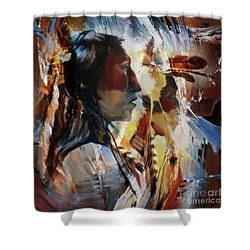 First Nation 67yu Shower Curtain by Gull G