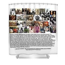 First Native Americans Were Indigo Twa Black Afrikans Shower Curtain