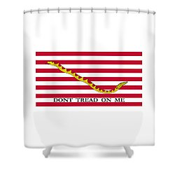 First Navy Jack Shower Curtain by War Is Hell Store