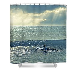 First Of The Day Shower Curtain
