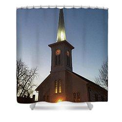 First Presbyterian Churc Babylon N.y After Sunset Shower Curtain