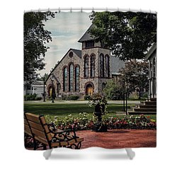 Shower Curtain featuring the photograph First Presbyterian Church by Kendall McKernon