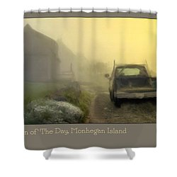 First Run Of The Day, Monhegan Island  Shower Curtain by Dave Higgins