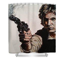 First Shot - Han Solo Shower Curtain