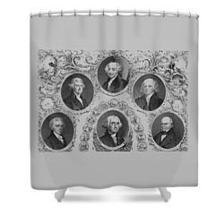 First Six U.s. Presidents Shower Curtain