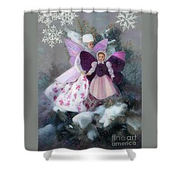 Shower Curtain featuring the painting First Snow by Nancy Lee Moran