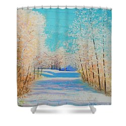 First Snowfall #2 Shower Curtain by Rae  Smith PAC
