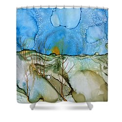 Shower Curtain featuring the painting First Snowfall by Pat Purdy