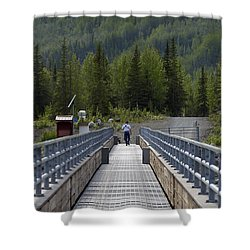 First Steps Down New Roads Shower Curtain by Denise McAllister