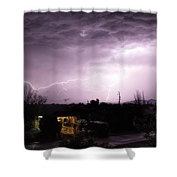 First Summer Storm Shower Curtain by Charles Ables