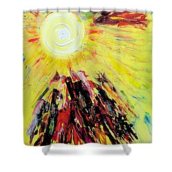 First Sun Shower Curtain