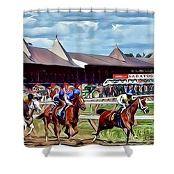First Turn Saratoga Shower Curtain
