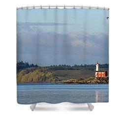 Fisgard Lighthouse At Dawn Shower Curtain