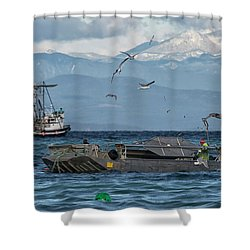 Shower Curtain featuring the photograph Fish Are Flying by Randy Hall
