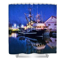 Fish Boats Shower Curtain