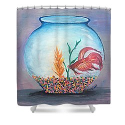 Fish Bowl Shower Curtain