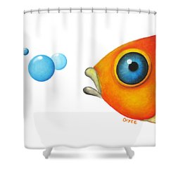Fish Bubbles Shower Curtain