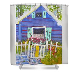 Fish Camp Cottage Shower Curtain