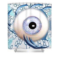 Fish Eye Shower Curtain