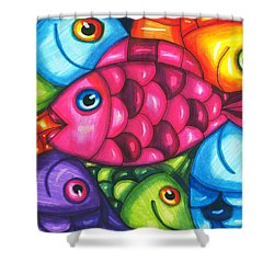 Fish Friends Shower Curtain