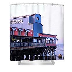 Fish Hopper Restaurant In Monterey Shower Curtain by Kirsten Giving