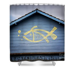 Shower Curtain featuring the photograph Fish House by Perry Webster