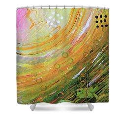Fish In A Green Sea Shower Curtain