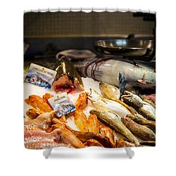 Shower Curtain featuring the photograph Fish Market by Jason Smith