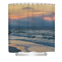 Shower Curtain featuring the photograph Fish On In Alabama  by John McGraw