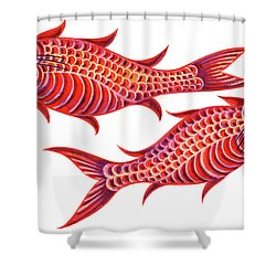 Fish Pisces Shower Curtain