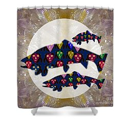 Fish Poisson Trout Water Living Animals Aquarium For Kids Room Personal Use Download Option   Shower Curtain