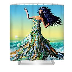 Fish Queen Shower Curtain