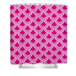 Shower Curtain featuring the digital art Fish Scale Decorative Pattern - Custom Color by Mark E Tisdale