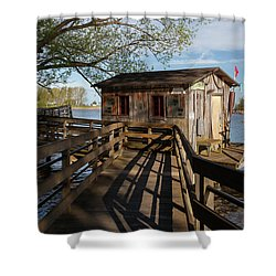 Shower Curtain featuring the photograph Fish Shack by Fran Riley