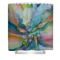 Fish Tales Shower Curtain by Donna Acheson-Juillet